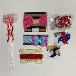 Other - Girls hair bow, clips, headbands light up bow